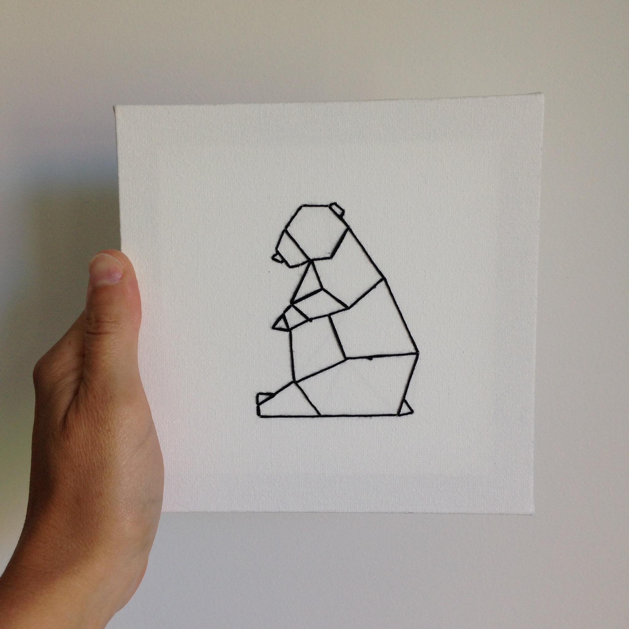 Tuto Des Châssis Brodés Mes Petits Animaux Origami Le